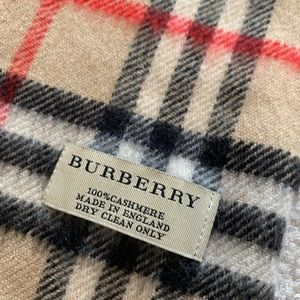 Authentic Burberry vintage check cashmere scarf